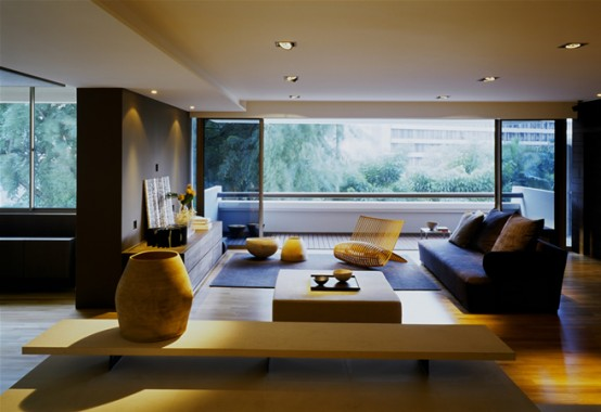 Apartment Decor With Large Open Living Room Digsdigs