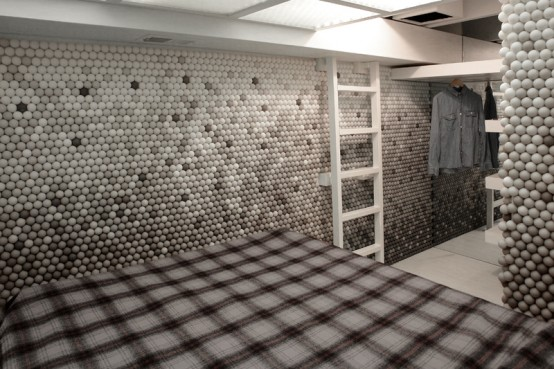 Apartment With Pingpong Balls On Walls