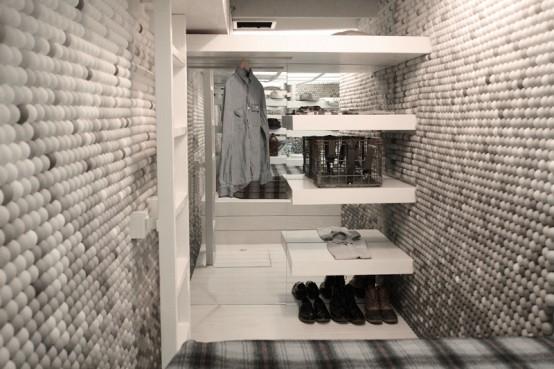 Apartment With Pingpong Balls On Walls