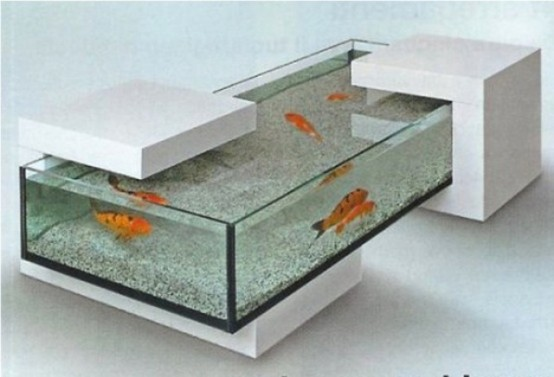 55 original aquariums in home interiors digsdigs for Table basse aquarium