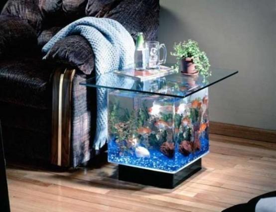55 Original Aquariums In Home Interiors - DigsDigs