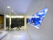 a built-in aquarium will be a fantastic decor feature in minimalist space adding a natural feel to it