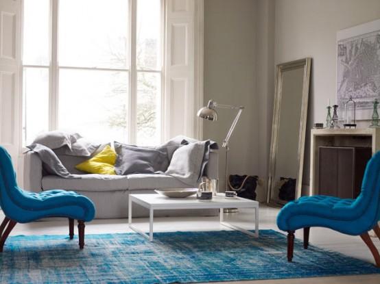 Aquatic Living Room Design