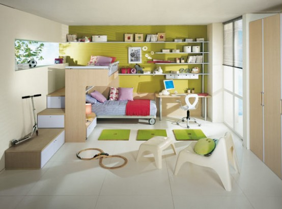 Bright Kids Room Ideas from Sangiorgio Mobili | DigsDigs