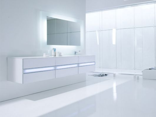 Bathroom Light Design Decor Clean White Minimalist Bathroom By Arlexitalia DigsDigs