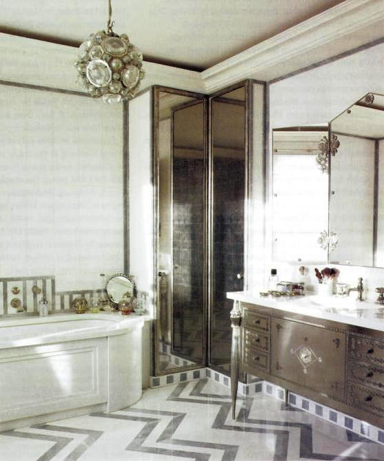 15 art deco bathroom designs to inspire your relaxing sanctuary digsdigs. Black Bedroom Furniture Sets. Home Design Ideas