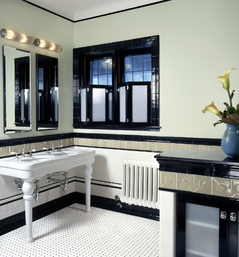 15 art deco bathroom designs to inspire your relaxing for Bathroom ideas 1920 s
