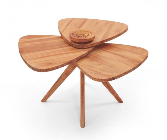 Art Of The Detail: Modern Petal Table With Unique Design