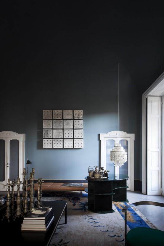 Atmospheric Milan Home Full Of Unique Furniture
