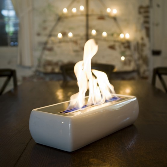 Modern Portable Fireplaces and Fire Lamps