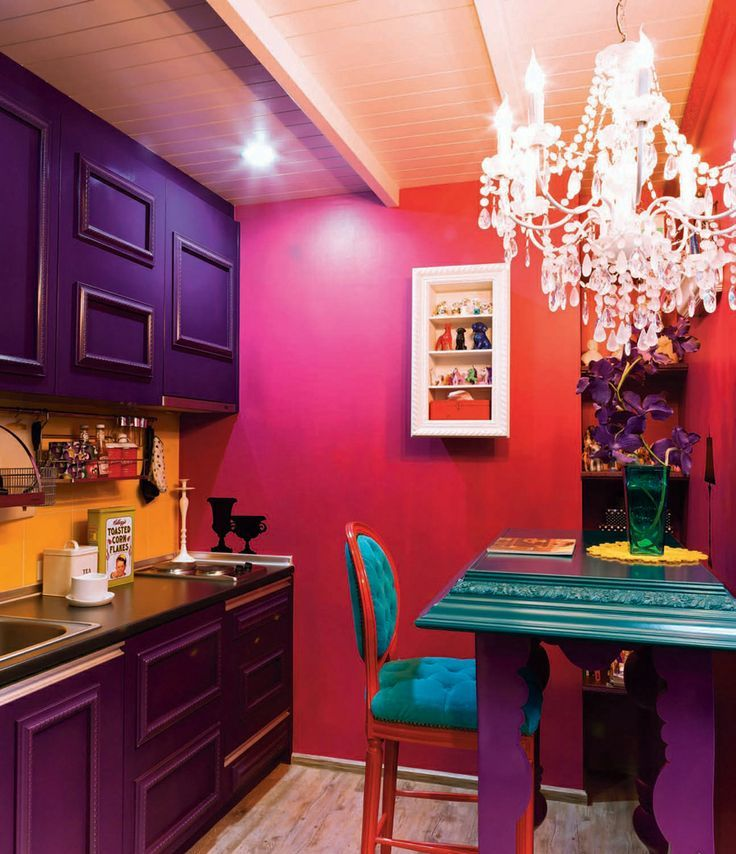 Awesome Bold Decor Ideas For Small Kitchens
