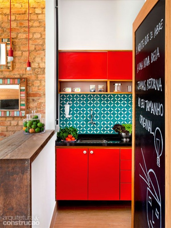 Perfect Awesome Bold Decor Ideas For Small Kitchens