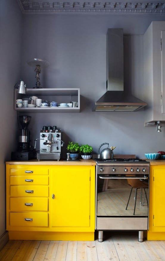 Popular Awesome Bold Decor Ideas For Small Kitchens