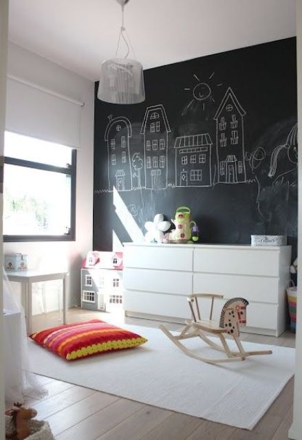 33 awesome chalkboard d cor ideas for kids rooms digsdigs