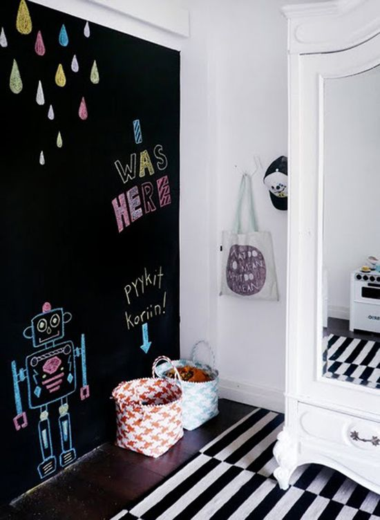 awesome chalkboard decor ideas  kids rooms