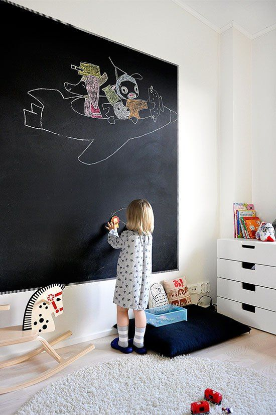 33 awesome chalkboard d cor ideas for kids rooms digsdigs - Tafelwand kinderzimmer ...