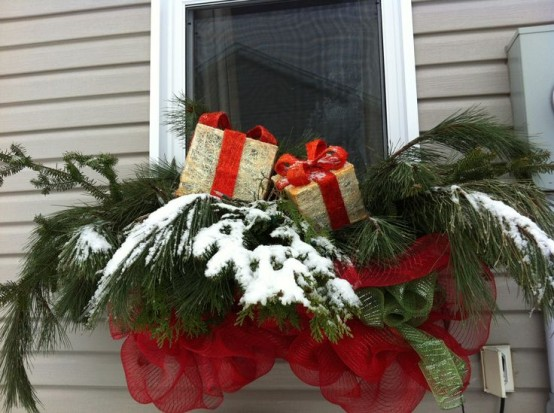 Don't forget, you can decorate your windows outside too.