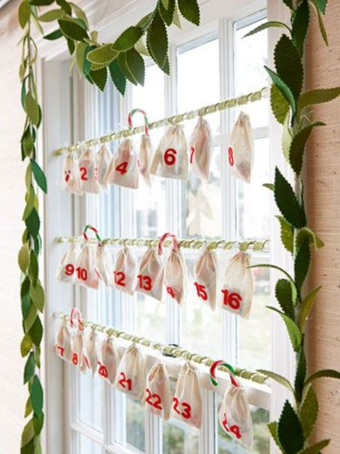Turn your window into an awesome advent calendar. That will make the waiting much more fun.