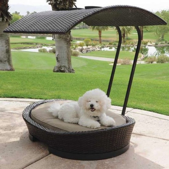 36 awesome dog beds for indoors and outdoors digsdigs - Outdoor dog beds with canopy ...