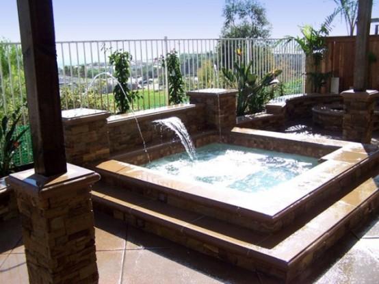 75 Awesome Backyard Hot Tub Designs - DigsDigs