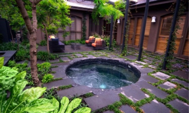 Small backyard designs with jacuzzi