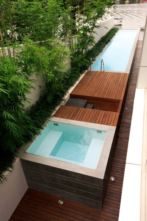 65 awesome garden hot tub designs digsdigs for Piscina container