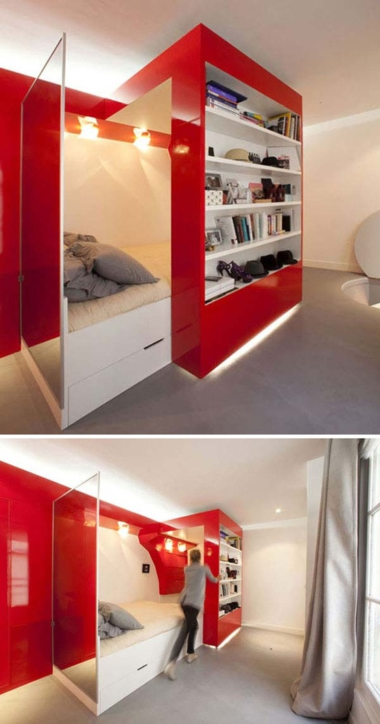 Awesome Hidden Beds To Save The Space. 50 Super Practical Hidden Beds To Save The Space   DigsDigs
