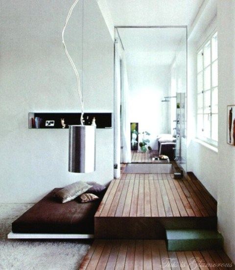 50 super practical hidden beds to save the space digsdigs - Bedroom with mattress on the floor ...