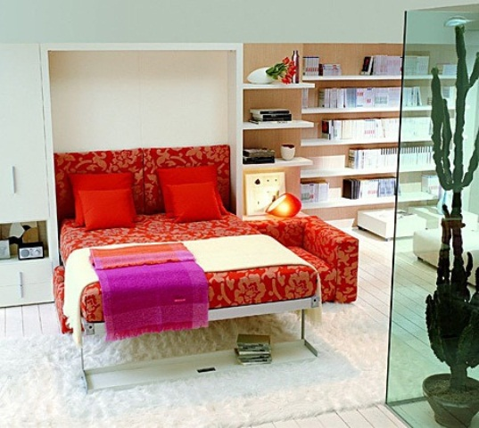 50 super practical hidden beds to save the space digsdigs - Sofa cama pequeno ...