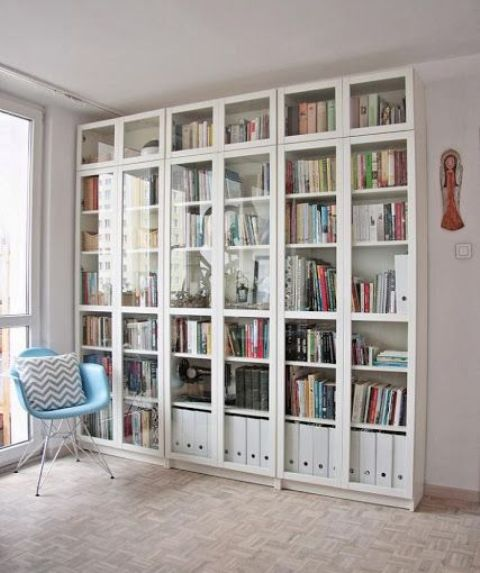 Bookcase Design Ideas nominated as the selected design in the young design 2010 this stylish bookshelf will always work as a good reminder to read what you have put in ti Although The Floor To Ceiling Design Provide Considerable More Storage
