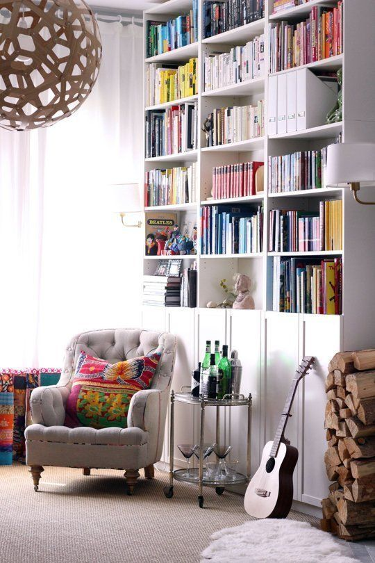 combining an open and closet storage is always a smart decision - Ikea Bookshelves Ideas