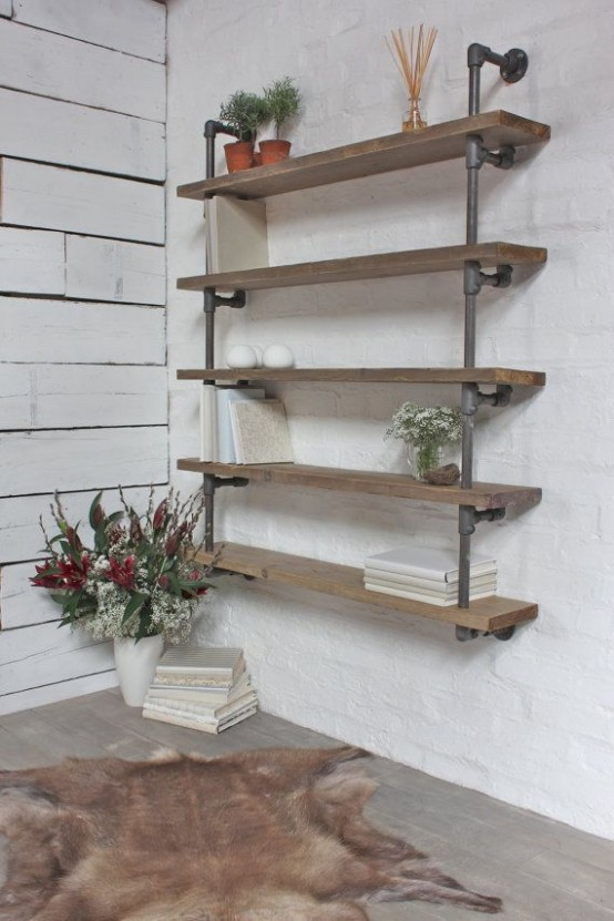 Awesome Industrial Shelves And Racks For Any Space