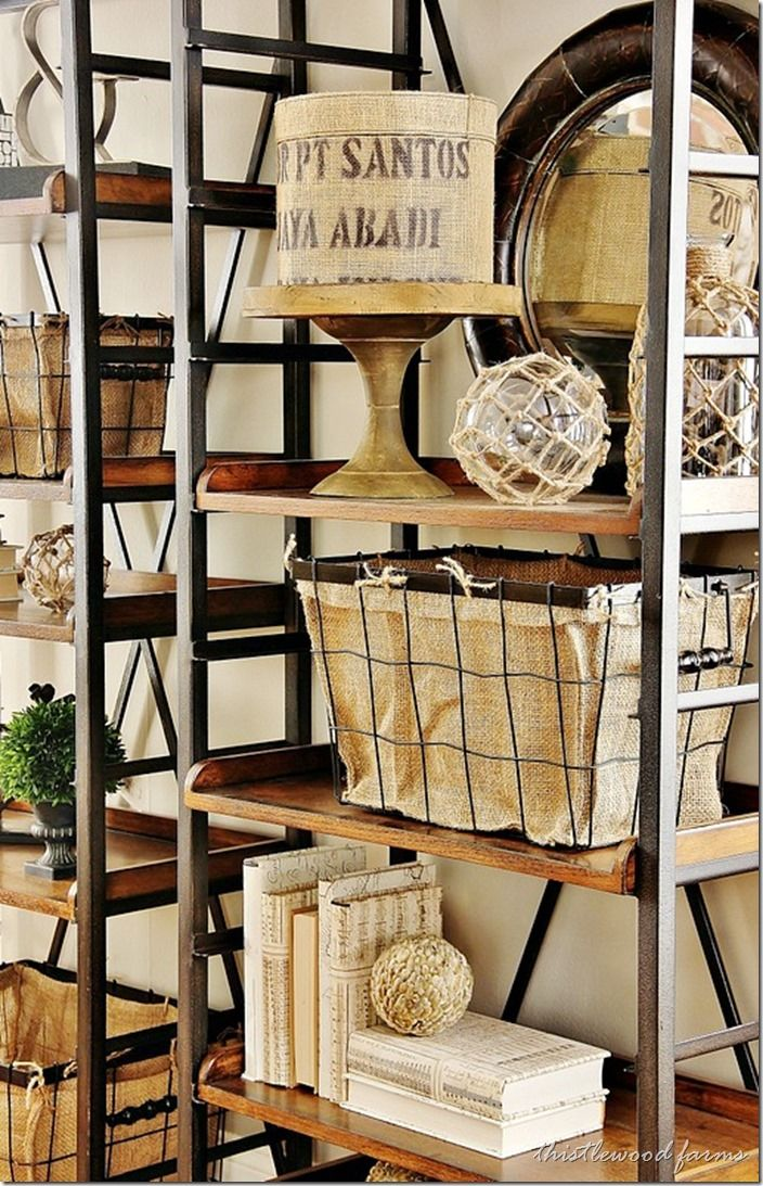 30 awesome industrial shelves and racks for any space for Diy living room designs