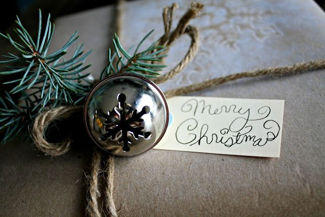 accent your Christmas gifts with fir and mini bells and they will look just amazing and very chic