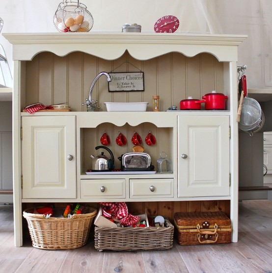 Awesome Kid's Kitchen Design Of A Vintage Dresser