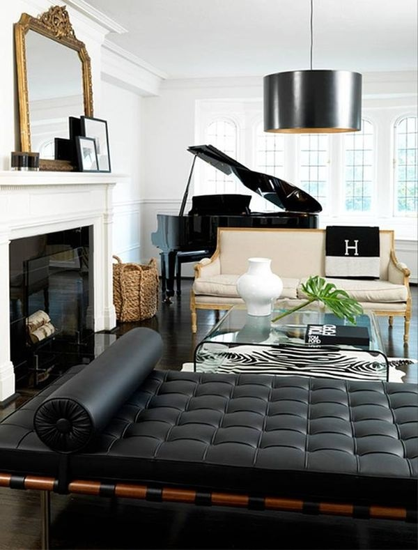 60 awesome masculine living space design ideas in for Piano room decor
