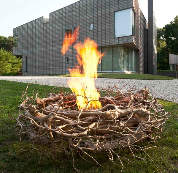 62 awesome outdoor fire bowls to add a cozy touch to your for Amenagement jardin contemporain