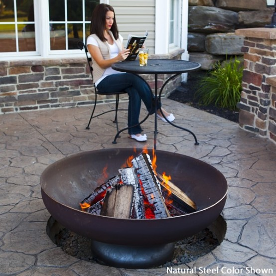 62 awesome outdoor fire bowls to add a cozy touch to your backyard digsdigs. Black Bedroom Furniture Sets. Home Design Ideas