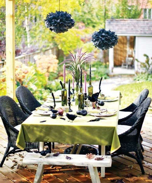 Patio is a great place to organize an outdoor Halloween party. There is usually a roof protecting as from sun as from rain. Besides you can easily hang some decorations to it.