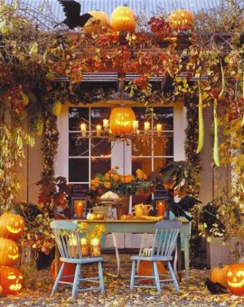 60 awesome outdoor halloween party ideas digsdigs - Decoration maison halloween ...