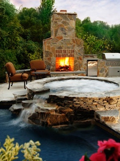 33 awesome outdoor jacuzzis with stunning views digsdigs. Black Bedroom Furniture Sets. Home Design Ideas