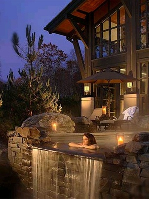 33 Awesome Outdoor Jacuzzis With Stunning Views | DigsDigs