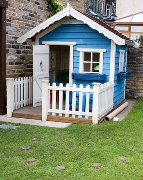 Picture of awesome outdoor kids playhouses to build this How to build outdoor playhouse