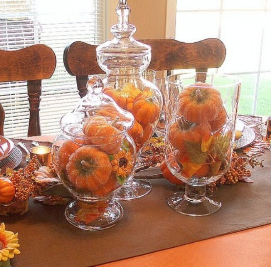 65 awesome pumpkin centerpieces for fall and halloween for How to decorate a thanksgiving table on a budget