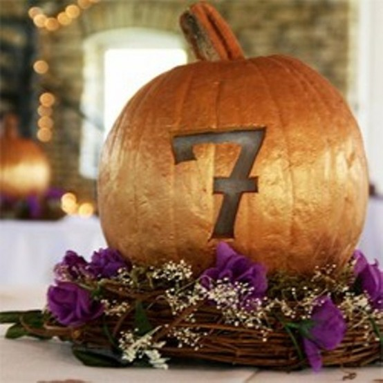 awesome pumpkin centerpieces for fall and halloween table - Halloween Centerpieces Wedding
