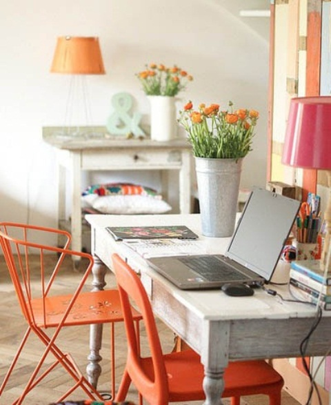 Model Pictures  20 Home Office Decorating Ideas To Draw Spring Into Your