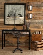 an masculine industrial home office design