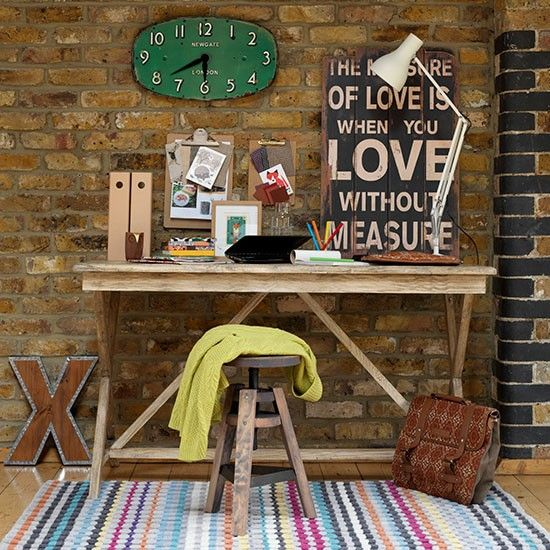 10 Awesome Music Inspired Home Decor Ideas: 42 Awesome Rustic Home Office Designs