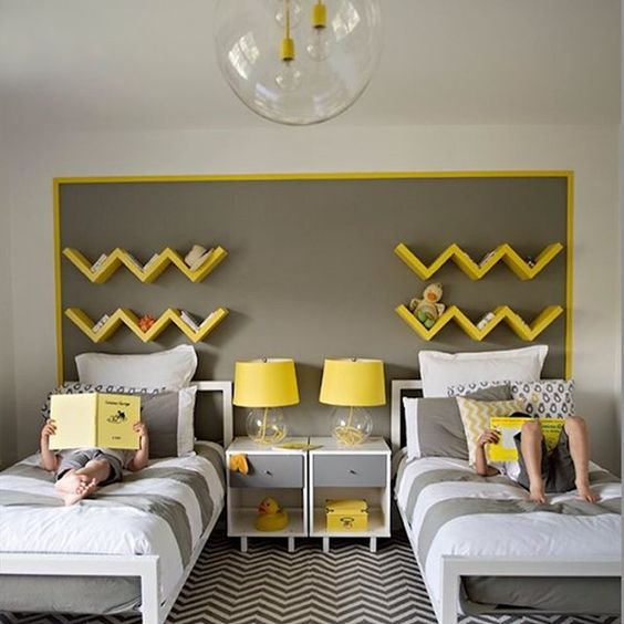 30 awesome shared boys room designs to try digsdigs - Images of kiddies decorated room ...