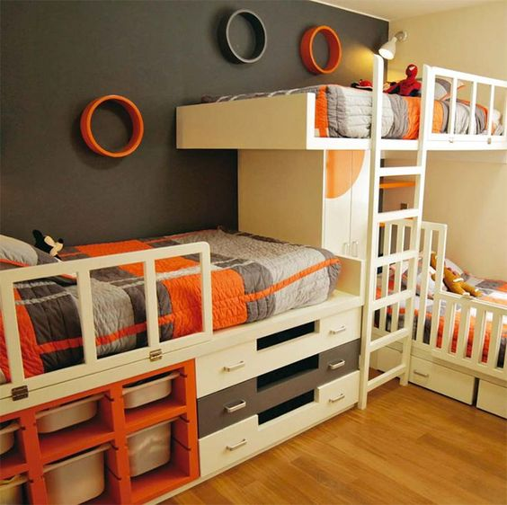 Shared Boys Bedroom Storage